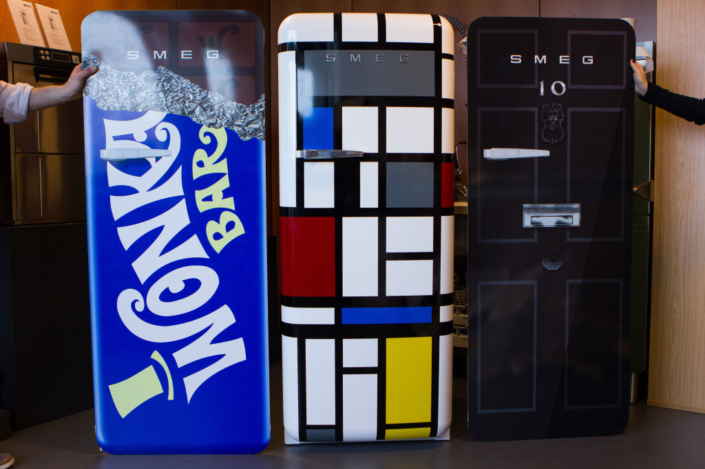 smeg mondrian fridgewrap competition vinyl graphics