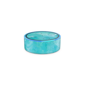 Turquoise Watercolour Amazon Echo Dot (2nd Generation) Skin