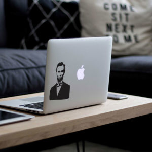 Abraham Lincoln Portrait Macbook Decal