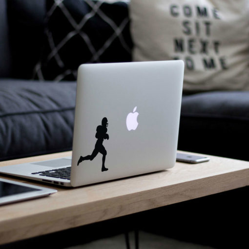 American Football Player Macbook Decal