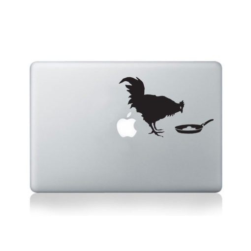 Banksy Chicken and Frying Egg Macbook Decal