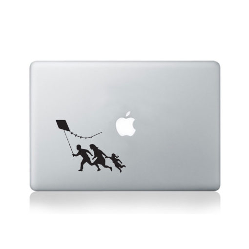 banksy kite macbook decal