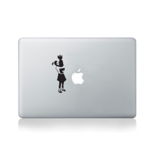 Banksy Girl Hugging Bomb Macbook Decal
