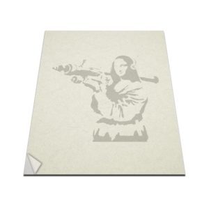 banksy mona lisa macbook decal