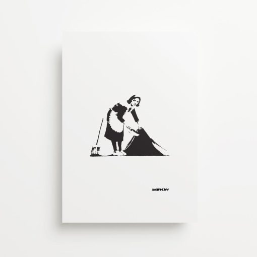 Banksy Cleaning Lady Giclee Print