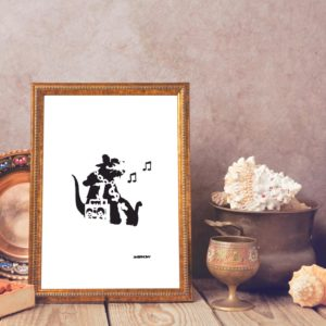 Banksy Rat Hip Hop Head Giclee Print