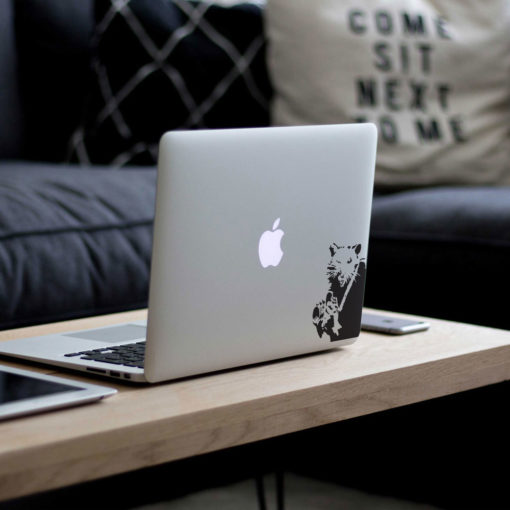 Banksy Rat Photographer Macbook Decal