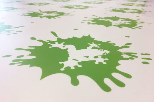 Green vinyl stickers