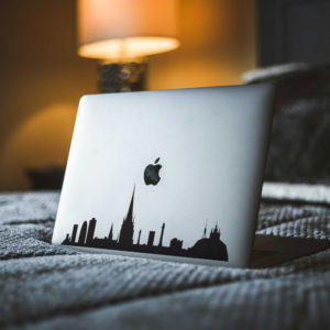 Barcelona City Skyline Macbook Decal