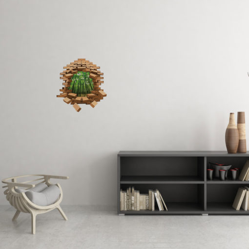 Behind The Cracks: Bamboo Greenery Wall Art
