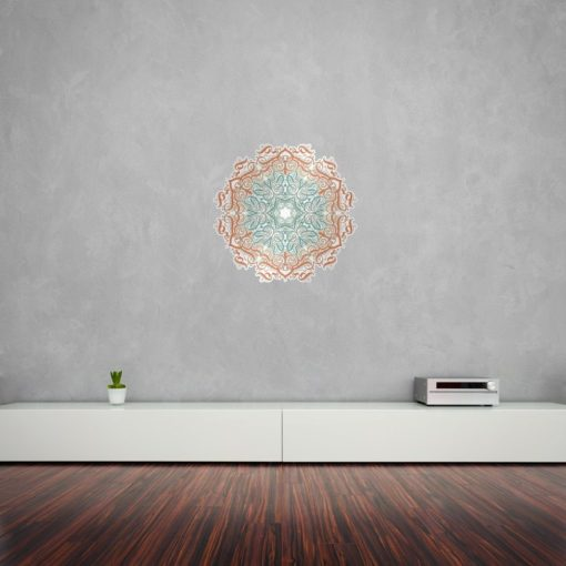 Calligraphy Floral Patterns Mandala Wall Art