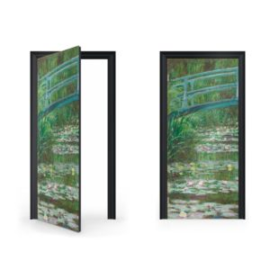 Claude Monet The Japanese Bridge DoorWrapClaude Monet The Japanese Bridge DoorWrapClaude Monet The Japanese Bridge DoorWrap