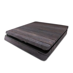 Dark Wood Geometric Parquet PS4 Slim Skin