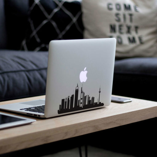 Frankfurt City Skyline Macbook Decal