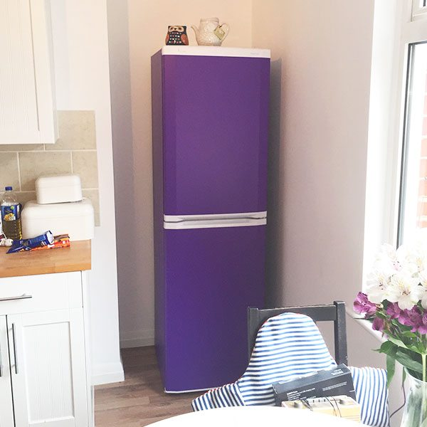 Vinyl purple fridge wrap