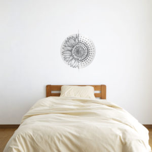 Geometric Sunflower Splice Wall Art