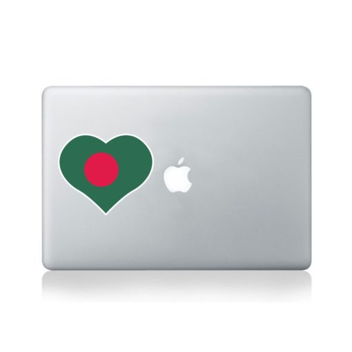 I Love Bangladesh Macbook Sticker