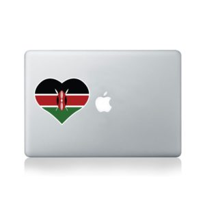 I Love Kenya Macbook Sticker