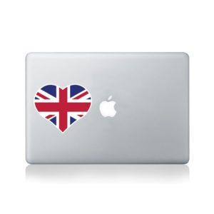 I Love United Kingdom Macbook Sticker