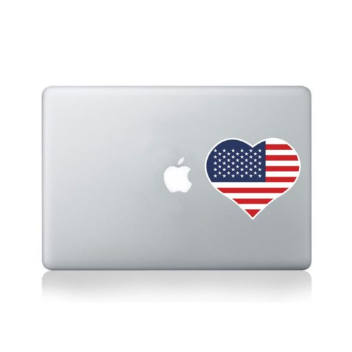 I Love United States Of America Macbook Sticker