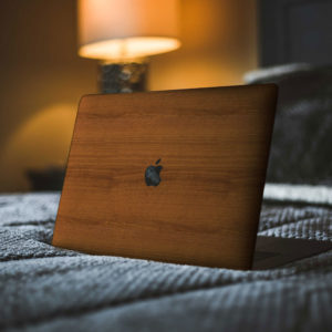 Mahogany Wood Macbook Skin