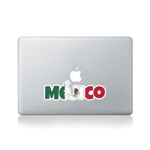 Mejico Country Name As Flag Macbook Sticker