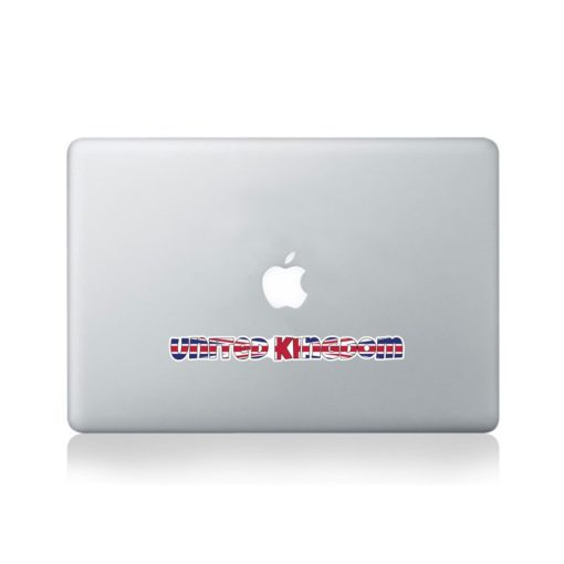 United Kingdom Country Name As Flag Macbook Sticker