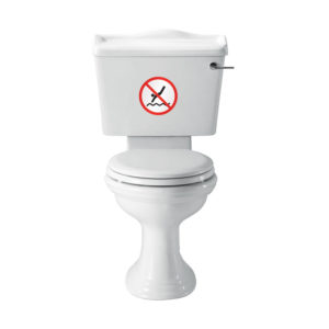 No Diving Toilet StickerNo Diving Toilet StickerNo Diving Toilet Sticker