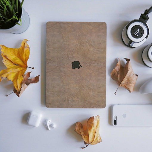 Oak Wood Macbook Skin