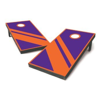 Orange and purple vinyl sticker