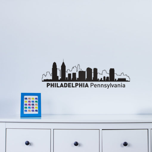 Philadelphia City Skyline Wall Art