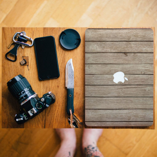 Pine Wood Planks Macbook Skin