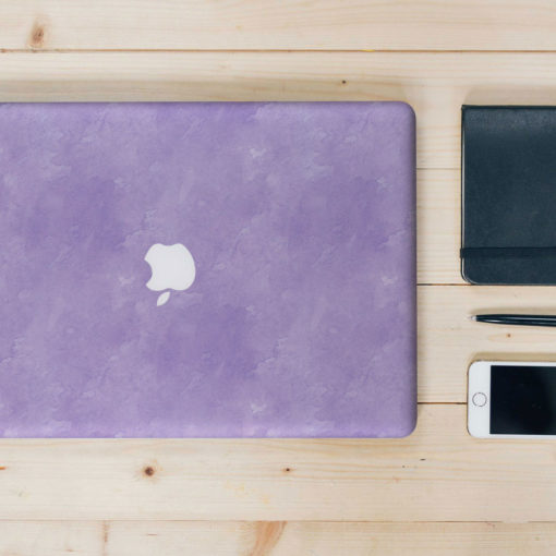 Purple Watercolour Macbook Skin