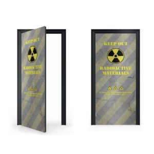 Radioactive Doorwrap Door Sticker ...