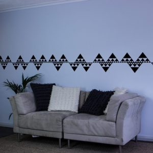 geometric triangles wall art border