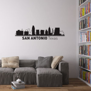 San Antonio Skyline Wall Art