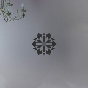 snowflake christmas wall art decal