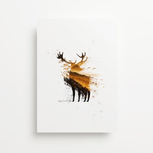 Stag Forest Dispersion Giclee Print