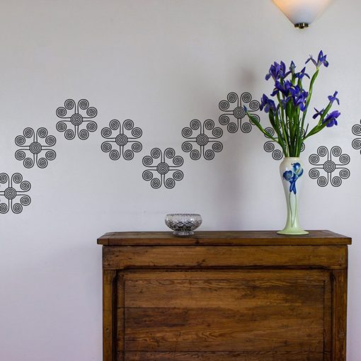 swirl vinyl wall art decal pack