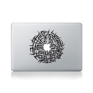 tribal circle mandala macbook decal