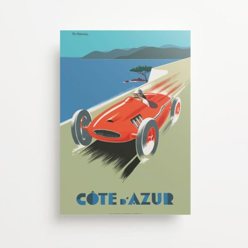 """Cote d'Azur French Riviera"" Vintage Travel Ad Giclee Print"