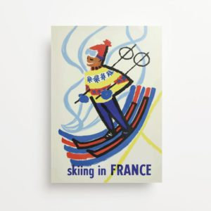 """France"" Vintage Travel Ad Giclee Print"