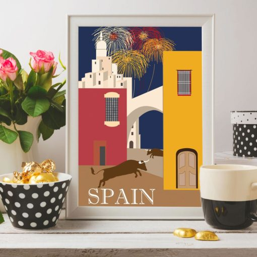 """Spain"" Vintage Travel Ad Giclee Print"