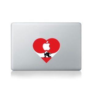 Working Heart Macbook Sticker